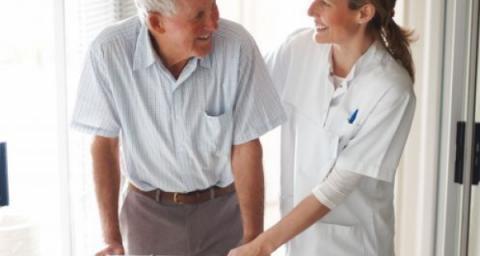 old man flirts with nurse