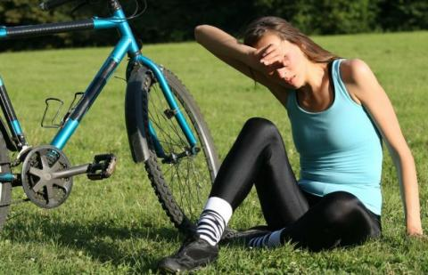 heat exhaustion bicycling stories